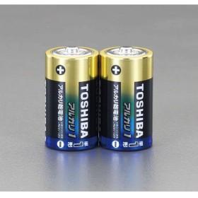 【Tポイント5倍開催中!!】 ESCO エスコ 単1x2本アルカリ乾電池