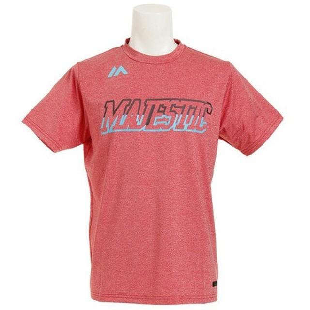 MAJESTIC Authentic Tech Branding 半袖Tシャツ type-2 XM01-RED5-MAJ-0008 (Men's)