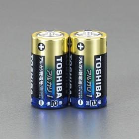 【Tポイント5倍開催中!!】 ESCO エスコ 単2x2本アルカリ乾電池