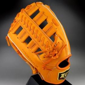 ゼット ZETT 一般軟式外野手用 左投げ Pro status プロステイタス BRGB-30517(5600RH)オレンジ