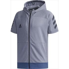 adidas(アディダス) (メンズ 野球・ソフトボール用ウェア) 5T半袖フードフルジップスウェット COLNVY