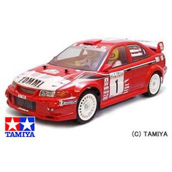タミヤ TAMIYA 1/10 電動RCカー 三菱ランサー エボリューションVI WRC (TB-01シャーシ)