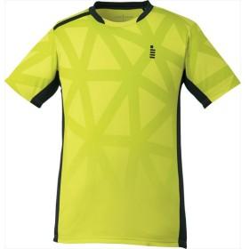 GOSEN(ゴーセン) (男女兼用 テニス・バドミントンウェア) ゲームシャツ ライムイエロー