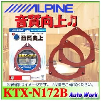 アルパイン ニッサン/スズキ/マツダ/ミツビシ車用 インナーバッフルボード KTX-N172B