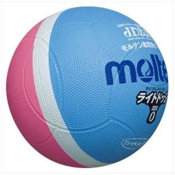 モルテン(Molten) ライトドッジボール軽量0号球 サックス×ピンク