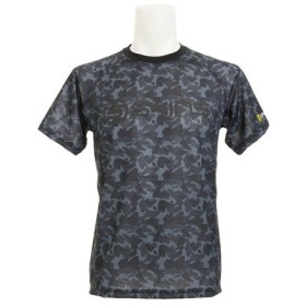 スキンズ(SKINS) 【多少の傷汚れありの為大奉仕】総柄 ベースボール Tシャツ SAS2712X BLK (Men's)
