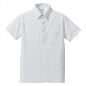 UnitedAthle(ユナイテッドアスレ) 5.3オンスドライ CVC ポロシャツ(ボタンダウン・ポケット付) ホワイト