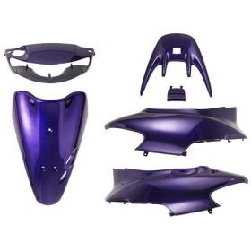 ホンダ ライブディオZX AF35 2型シャッター式 外装セット 6点 黒 紫 新品 バイクパーツセンター