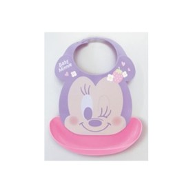 73e6a8248fb59 ベビーエプロン ミニーマウス ビブ ポケット付き プラスチック ( お食事 ...