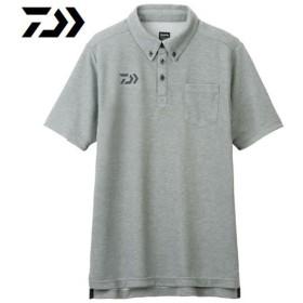 ダイワ ボタンダウンポロシャツ フェザーグレー DE-6507 (フィッシングウェア)