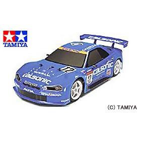 タミヤ TAMIYA 1/10 電動RCカー カルソニック スカイライン GT-R 2003 (TT-01シャーシ)