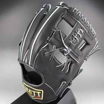 2016年モデル ZETT プロステイタス 一般硬式 二塁手・遊撃手用 BPROG24 1900:ブラック 右投げ(LH)
