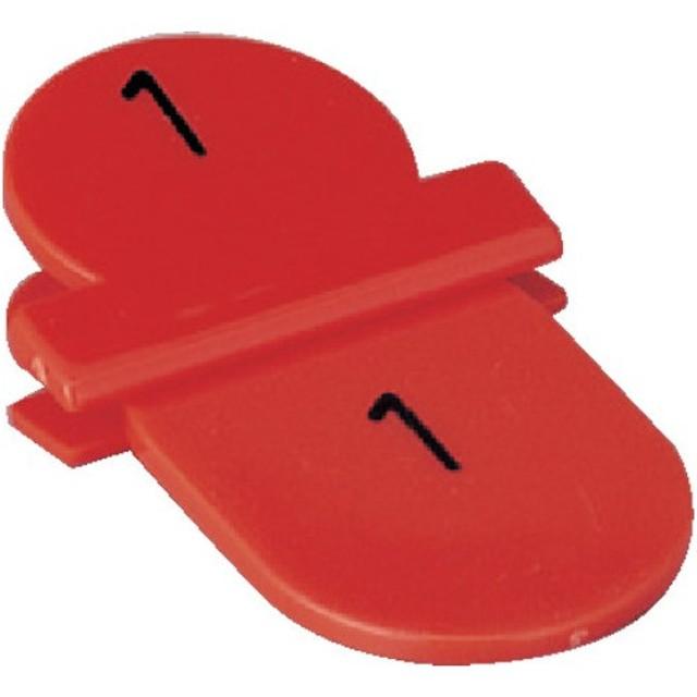 トラスコ 親子札 1〜10 赤 (1箱) 品番:TOFD10-R