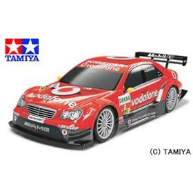 タミヤ TAMIYA 1/10 電動RCカー ボーダフォン AMGメルセデス Cクラス DTM 2006(TT-01)完成ボディ