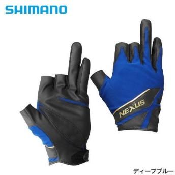 シマノ ネクサス ストレッチグローブ XT 3 GL-121Q ディープブルー M〜2XL (フィッシンググローブ)