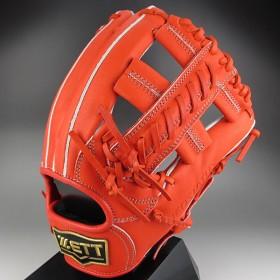ZETT ネオステイタス 一般硬式 二塁手・遊撃手用 BPGB12450 5800:ディープオレンジ 右投げ(LH)