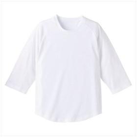 UnitedAthle(ユナイテッドアスレ) 5.0オンスラグラン3/4スリーブTシャツ(アダルト) ホワイト