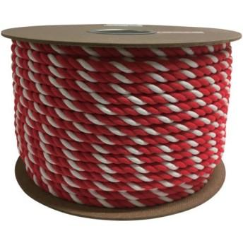 ユタカ アクリル紅白ロープ 12mm×100m (1巻) 品番:PRZ-65