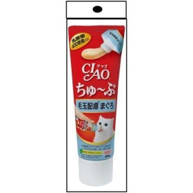 CIAO CAIO ちゅーぶ  毛玉配慮まぐろ入り/80g