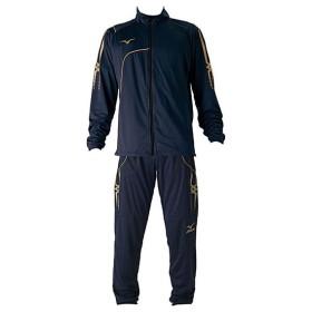 ミズノ サッカー トレーニングウェア上下セット ウォームアップシャツ&パンツ 上下セット ネイビー MIZUNO P2MC7080-14-P2MD7080-14