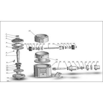 ペレタイザー ZLSP150B用 ラウンドナット 部品番号12 ZLSP150B-P12 パーツ ペレタイザー