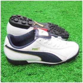 エシートXL TT JR ホワイト×ニューネイビー×チームゴールド 【PUMA プーマ】ジュニアトレーニングシューズ101608-02