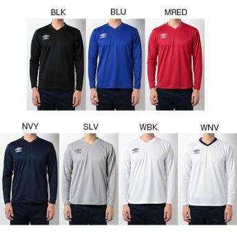 アンブロ メンズ セカンダリーL/Sシャツ サッカーウェア フットサルウェア トレーニング 長袖 UBS7637L