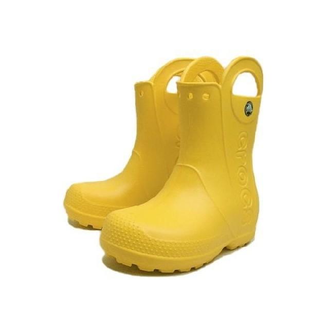 SALE 子供 クロックス crocs (Handle It) rain boot kids レインブーツ キッズ イエロー 12803 a5adb1c0ed5
