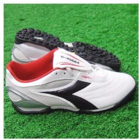 KOBRA TF JR J ホワイト×ブラック×レッド 【diadora ディアドラ】サッカージュニアトレーニングシューズ155259-1470