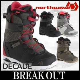 あすつく対応 17-18 NORTHWAVE / ノースウェーブ DECADE メンズ ブーツ スノーボード 2018 型落ち