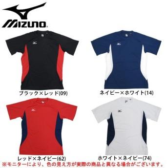 MIZUNO(ミズノ)半袖Tシャツ(12JA7Q83)スポーツ トレーニング ランニング フィットネス プラクティス メンズ