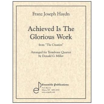 楽譜 ハイドン/大いなる御技は成りぬ(オラトリオ「天地創造」より)(ENS406/トロンボーン4重奏/輸入楽譜(T))