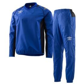 アンブロ サッカー トライアルコート ピステ 上下セット ウインドアップピステトップ&パンツ上下セット ブルーブラック UAS4660-BLU-UAS4660P-BLU