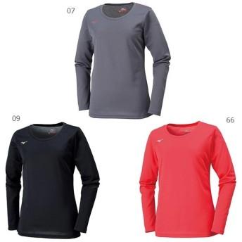 ミズノ レディース 長袖Tシャツ トレーニングウェア 長袖 Tシャツ Uネック 32MA6850