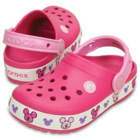 クロックス(crocs) crocslights Mickey clog kids クロックスライツ ミッキー クロッグ キッズ 203072-6X0 Candy Pink サンダル  (Jr)