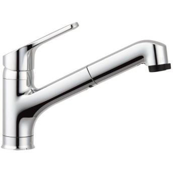 【在庫有】LIXIL(リクシル) INAX キッチン用 ワンホールシングルレバー混合水栓 ハンドシャワー付 エコハンドル RSF-833Y
