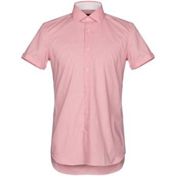 《セール開催中》LIU JO MAN メンズ シャツ レッド 39 100% コットン