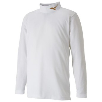 MIZUNO SHOP [ミズノ公式オンラインショップ] インナーシャツ(ハイネック/長袖)[ジュニア] 84 ホワイトxゴールド P2MA8651