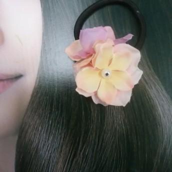 高級造花アーティフィシャルフラワーの、おとな可愛いヘアゴムシリーズ 美しいピンク系のヘアゴム
