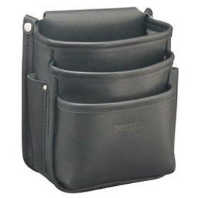ジェフコム 電工プロハイポーチ グローブ革 ポケット3段式 幅180×奥行150×高さ220mm JND-833G