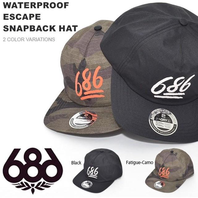 b02f49776fef6 キャップ 686 SIX EIGHT SIX シックスエイトシックス WATERPROOF ESCAPE SNAPBACK HAT メンズ 帽子 撥水