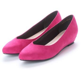 バニティービューティー VANITY BEAUTY メニーカラーバリエーションプレーンウェッジパンプス (ピンク)