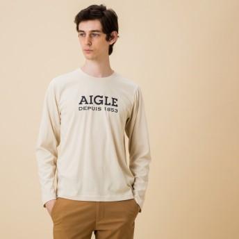 AIGLE メンズ メンズ 吸水速乾 銀イオン抗菌 ロゴプリン 長袖Tシャツ ZTH022J ECRU (102) Tシャツ