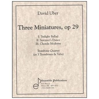 楽譜 D. ウーバー/3つの小品 Op. 29(ENS432/トロンボーン四重奏/輸入楽譜(T))