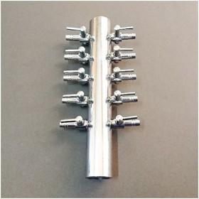 ゼンスイ 並列10連コック ステンレス製 分岐 エアーポンプ