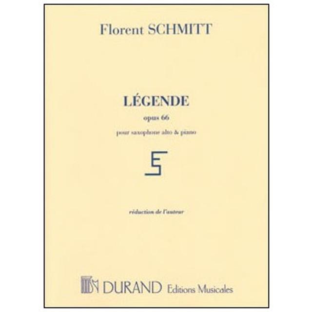楽譜 シュミット/伝説(レジェンド) 作品66(【202018】/DF00965202/50560105/アルト・サックス&ピアノ/輸入楽譜(T))