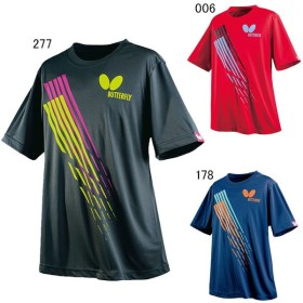 バタフライ 卓球 プラクティスシャツ スリック Tシャツ ユニセックス Butterfly 45220