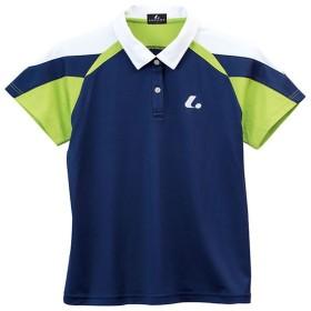ルーセント テニス ユニホーム ゲームシャツ レディース ゲームシャツ ネイビー lucent XLP-4956