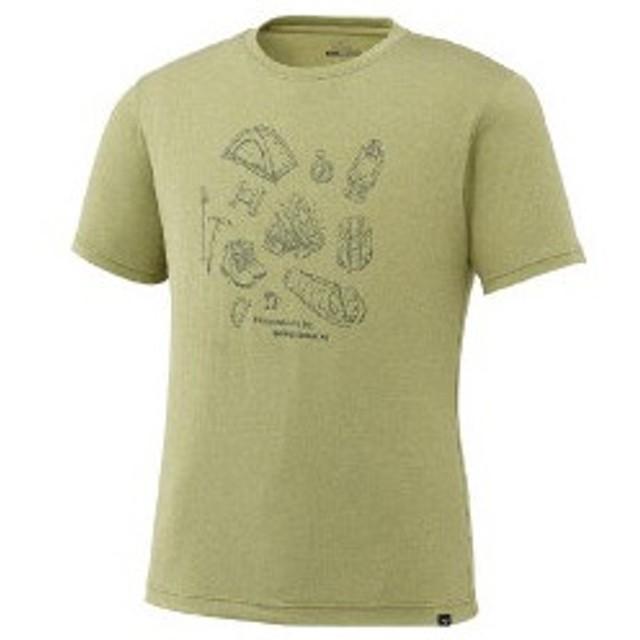 大特価!MIZUNO(ミズノ)ヘザーライト半袖プリントTシャツ アウトドア A2JA702237