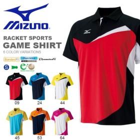 半袖 ポロシャツ ミズノ MIZUNO メンズ レディース ゲームシャツ テニス バドミントン ソフトテニス ウェア ゲームウエア 得割20